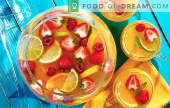 Cómo hacer ponche sin alcohol en casa. Las opciones más deliciosas para una bebida sana y original