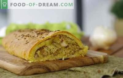 Pastel de repollo: una receta paso a paso para su pastelería favorita. Recetas probadas paso a paso para la levadura y la masa sin levadura de pastel de repollo