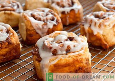 I rotoli alla cannella sono le migliori ricette. Come cucinare correttamente e gustosi panini alla cannella a casa