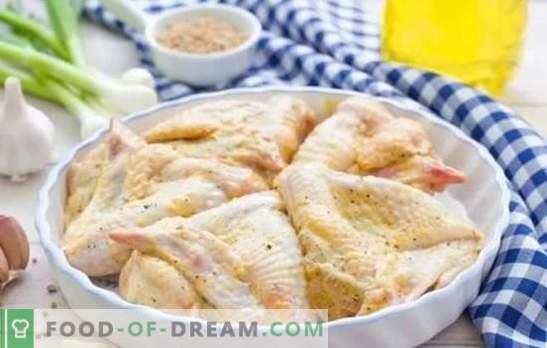 Alas en mayonesa con diferentes salsas. Rápido, sabroso, festivo, siempre de una manera nueva: recetas de alitas de pollo en mayonesa