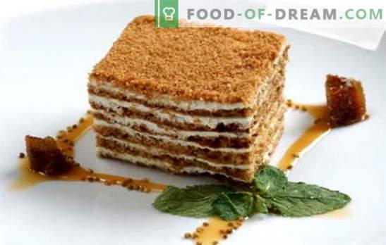 Pastel de miel clásico: una receta para el pastel favorito de todos. Recetas clásicas pastel de miel con leche condensada, crema agria, natillas