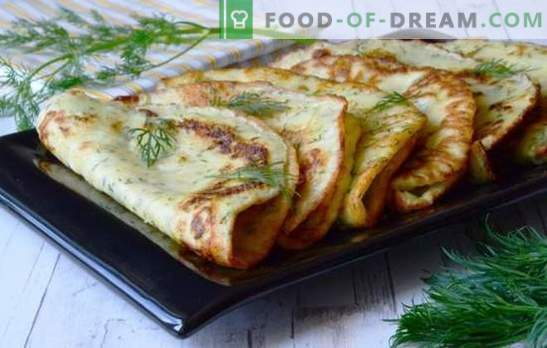 Recetas sencillas para deliciosas tortitas de calabacín. Qué sabroso y rápido cocinar panqueques magros y dulces de calabacín