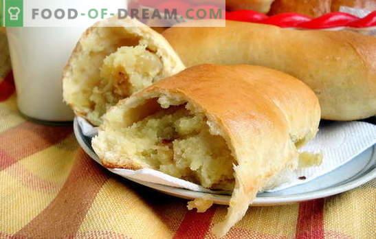 Pasteles de papa con levadura, como en ciudades y pueblos! Recetas de empanadas de papa fritas y al horno con levadura