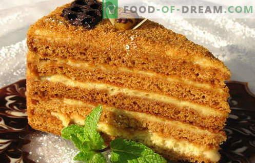 Pastel de miel - las mejores recetas. Cómo cocinar adecuadamente y deliciosamente un pastel de miel.