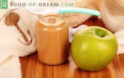 Puré de manzana para niños: cómo cocinarlo de forma adecuada y sabroso. Recetas de puré de manzana para bebes