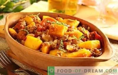 El asado de cerdo en una olla de cocción lenta es un plato simple, satisfactorio y sabroso. Las recetas se asan con verduras, champiñones, papas y cerdo en una olla de cocción lenta