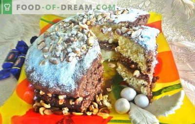 Delicioso pastel para cualquier celebración, el tan esperado - ¡Snickers! Receta fotográfica de la cocción paso a paso de la torta