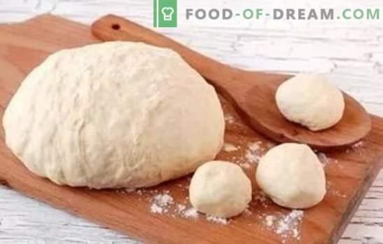 ¡Cómo hacer pasta como pelusa - en el kéfir funcionará! Recetas de masa para kéfir para tartas y no solo para ellas