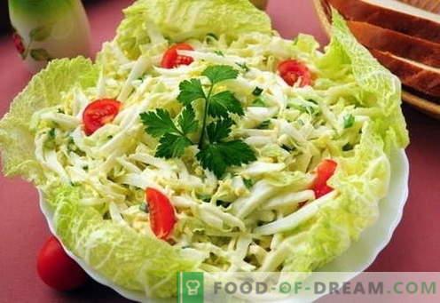 Ensalada de col china - las mejores recetas. Cómo cocinar correctamente y sabrosa ensalada de repollo chino.