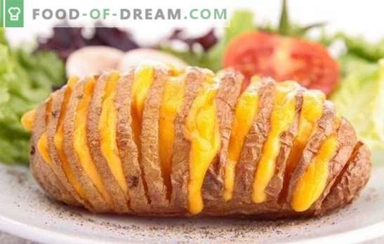 Patatas al horno en el horno con queso - plato increíblemente sabroso. Las mejores recetas para patatas al horno al horno con queso