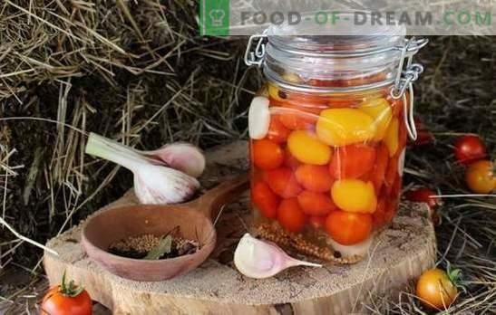 Tomates cherry para el invierno: ¡una pequeña y aguda alegría! Recetas de preparaciones inigualables con tomates cherry para el invierno