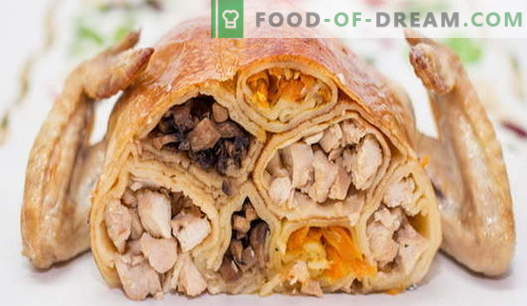 Pollo relleno - las mejores recetas. Cómo cocinar pollo relleno en el horno.
