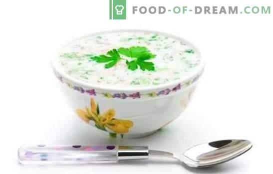 ¿Mejor Okroshka? ¡Aquí hay tal! Las recetas más deliciosas y simples de okroshkas sobre crema agria, kvas, agua mineral, kéfir