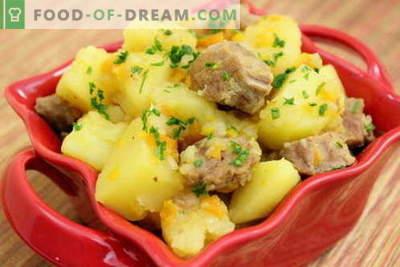 Patata con carne en una olla de cocción lenta: las mejores recetas. Cómo cocinar correctamente y sabroso las papas con carne en una olla de cocción lenta.