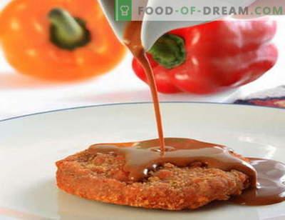 Salsa roja - las mejores recetas. Cómo cocinar correctamente y salsa roja.