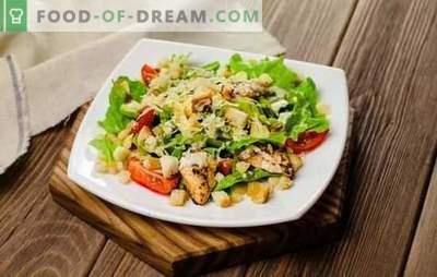 César con pollo: una receta paso a paso para una ensalada popular. Recetas para cocinar paso a paso César con pollo con aderezos originales