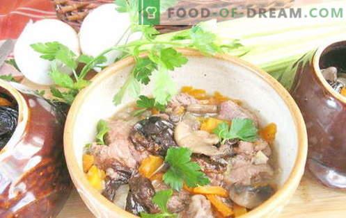 Cerdo en la olla - las mejores recetas. Cómo cocinar correctamente y sabroso cerdo en una olla.
