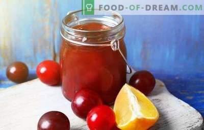 Secretos de mermelada de ciruelas naranjas para el invierno. Recetas de mermelada de ciruelas con naranja: caucásico,