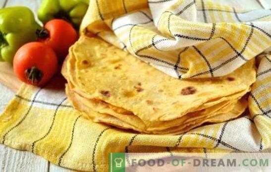 Tortillas mexicanas: sabrosas y fáciles! Enchilada, nachos, quesadilla, burrito, chimichanga - recetas con panes mexicanos
