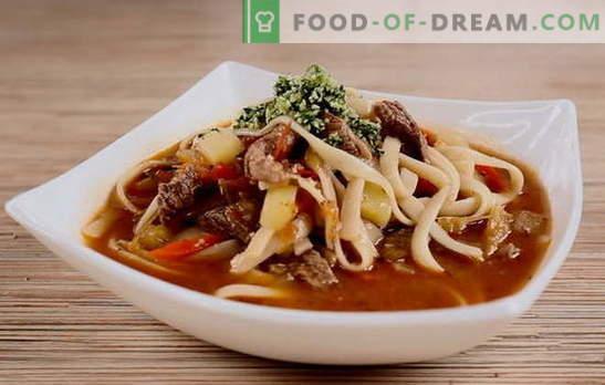 La sopa uzbeka es una exótica asequible. Características de la preparación de sopa de cordero uzbeka, sopa de fideos uzbeka: recetas