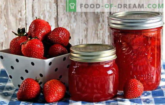 Conservación de la fresa - mantenemos el aroma y el sabor. Conservación de la fresa: recetas de mermelada, compota, mermelada, etc.