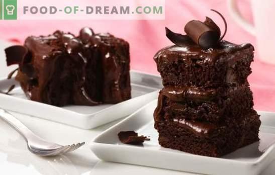 Pastel de chocolate hecho en casa: ¡un postre seductor! Recetas sencillas para pasteles de chocolate con pasteles, surtidos, gelatina