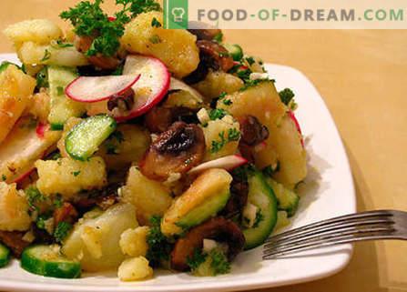 Ensalada del hígado con pepinillos - las mejores recetas. Cómo preparar adecuadamente una ensalada con hígado y pepinillos.