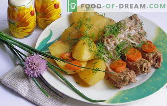 Patatas guisadas con costillas: ¡un aroma inolvidable de calma! Las mejores recetas para papas estofadas con costillas: descripción paso a paso