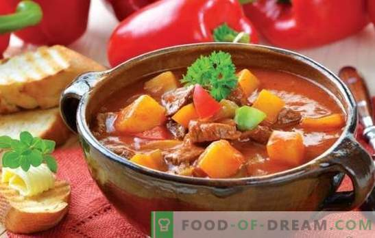 Sopa con carne y papas: las recetas son simples y muy simples. Sopas de patata y carne: magras, pollo, ternera, vegetales