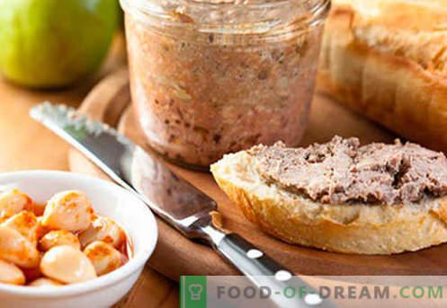 Paté de hígado de cerdo - las mejores recetas. Cómo cocinar correctamente y sabroso el pate de hígado de cerdo.