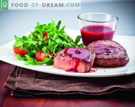 Salsa de arándanos rojos - las mejores recetas. Cómo cocinar adecuadamente y sabrosa la salsa de arándanos.