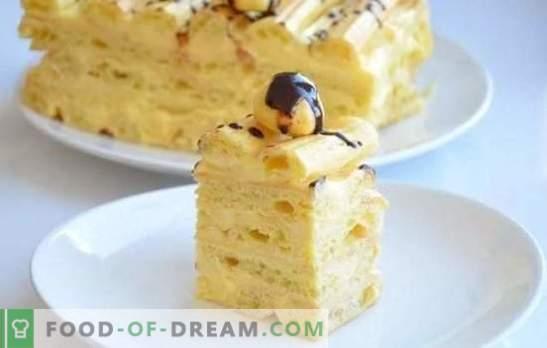 Custard Cake - Recetas paso a paso para un delicioso postre. Cocinando tortas caseras de chocolate con crema pastelera (paso a paso)
