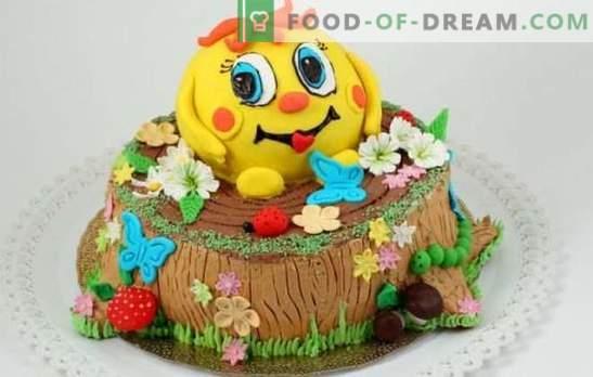 Pastel de niños con sus propias manos, ¡para las amadas más queridas! Recetas sencillas y bonitas para niños pasteles de bricolaje