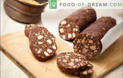 Salsicha de biscoitos - um sabor inesquecível! Salsicha doce de biscoitos com leite condensado, queijo cottage, nozes, frutas secas