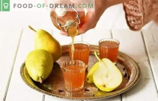 Tintura de peras en casa - ¡delicioso alcohol! Una selección de las mejores recetas de tintura de peras en casa