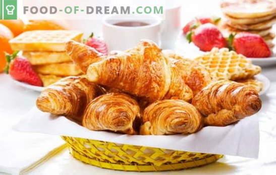 Croissants de la masa terminada - pasteles crujientes sin la molestia. Las mejores recetas para croissants de la masa terminada: dulce o salada