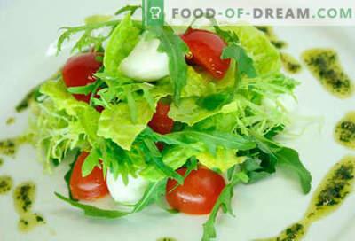 Ensalada con tomates cherry - cinco mejores recetas. Cómo cocinar correctamente y sabroso cocinar una ensalada con tomates cherry.