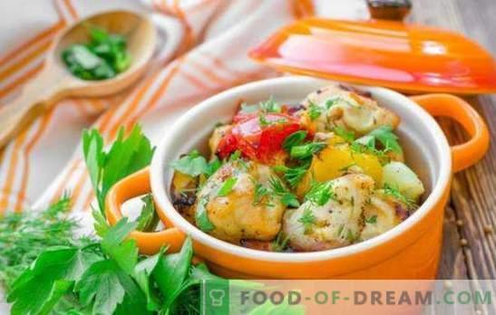 Pechuga de pollo en la olla - ¡ganar-ganar! Recetas de pechuga de pollo tierna en ollas con verduras, champiñones, trigo sarraceno, fruta
