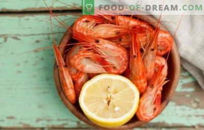 ¿Cómo y cuánto cocinar camarones? Sutilezas, secretos, recetas de cocina para camarones cocidos, congelados, sin pelar, royal y otros