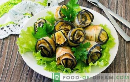 Aperitivo frío berenjena - nos ayudamos a nosotros mismos, caballeros! Cocinando bocadillos fríos de berenjena con ajo, nueces, tomates, pimientos, huevos