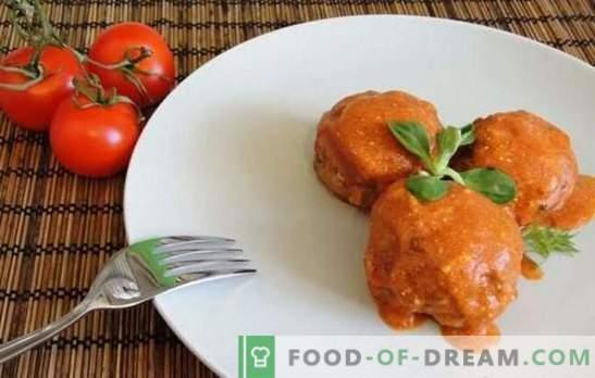 Albóndigas con arroz (paso a paso) - Bolas atractivas en salsa. Cocinando deliciosas carnes y pescados con albóndigas de arroz
