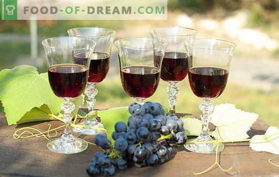 Relleno de uva casero - ¡naturalmente! Recetas de licor de uva en casa: con vodka, azúcar o alcohol