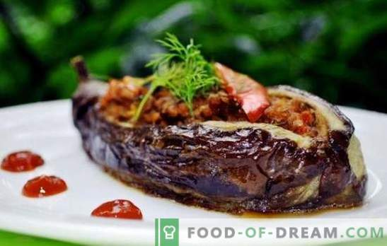 Eggplant with minced meat in a pan - eat tasty! Recipes of fried and stewed eggplants with minced meat in a pan