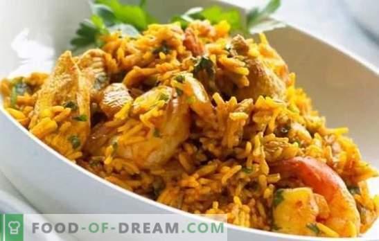 Chicken Pilaf: una receta paso a paso para un popular plato uzbeko. Recetas de pilaf con pollo, verduras y frutos secos