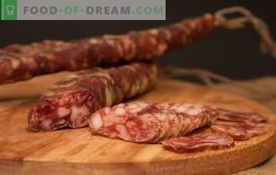 Salchicha seca en casa - ¡naturalmente! Recetas de embutidos secos a domicilio de diferentes carnes