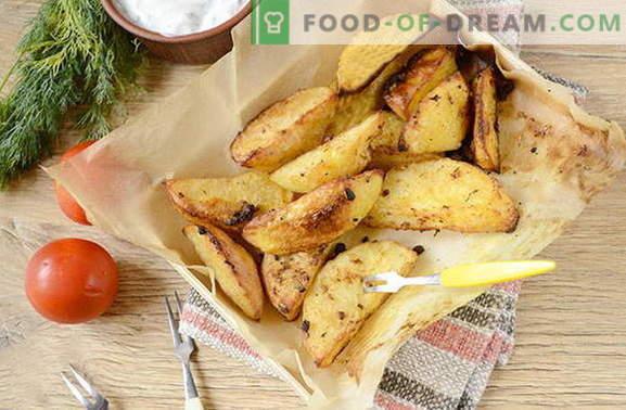 Patata al estilo rural en el horno con especias saladas