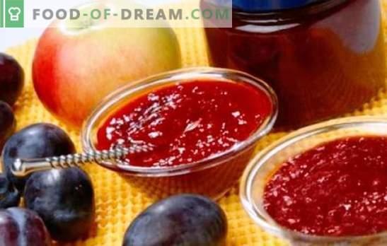 Mermelada de manzanas y ciruelas: dulzor de ámbar al té y para hornear. Las mejores recetas para mermelada fragante de manzanas y ciruelas