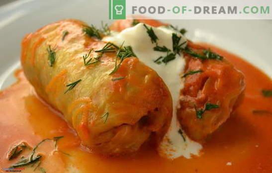 Rollos de col en salsa de crema agria - pinchos con un secreto. Recetas para rollos de repollo en salsa de crema agria: al horno, guisados, fritos