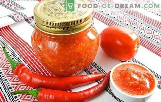 Adjika para el invierno sin cocinar: máximo beneficio y mínimo de cocina. Varias recetas para cocinar adzhika para el invierno sin hervir