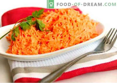 Ensalada de zanahoria cruda - las mejores recetas. Cómo preparar adecuadamente y sabrosa la ensalada de zanahoria cruda.